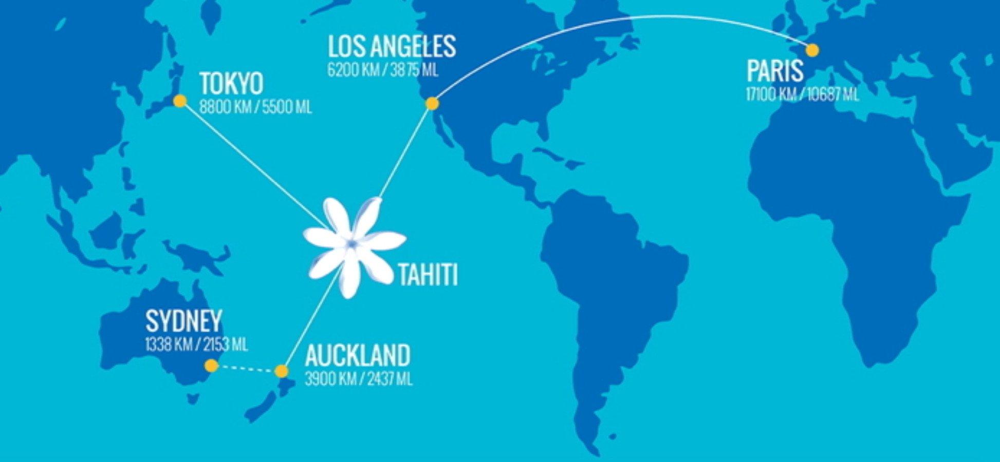 Tahiti World Map