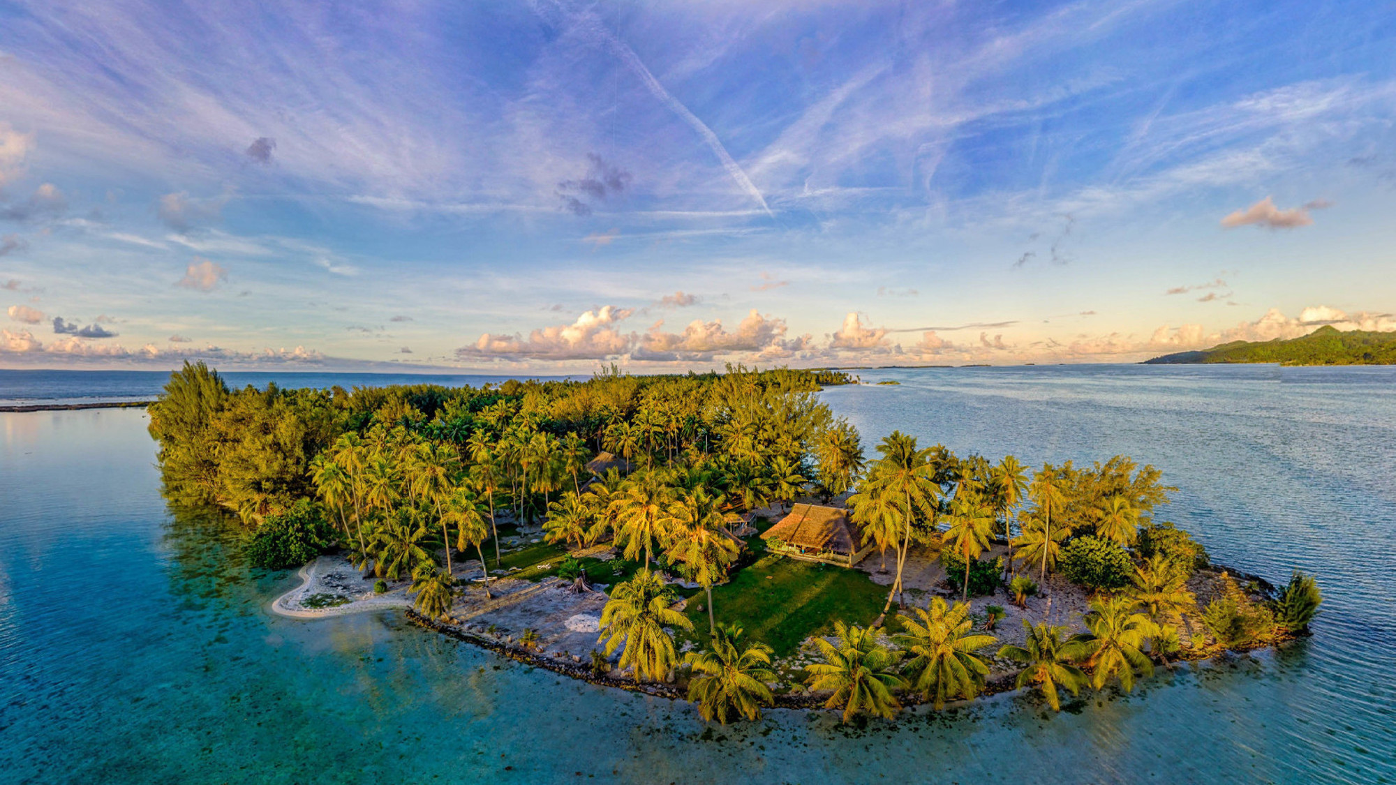 View of private Tahiti island