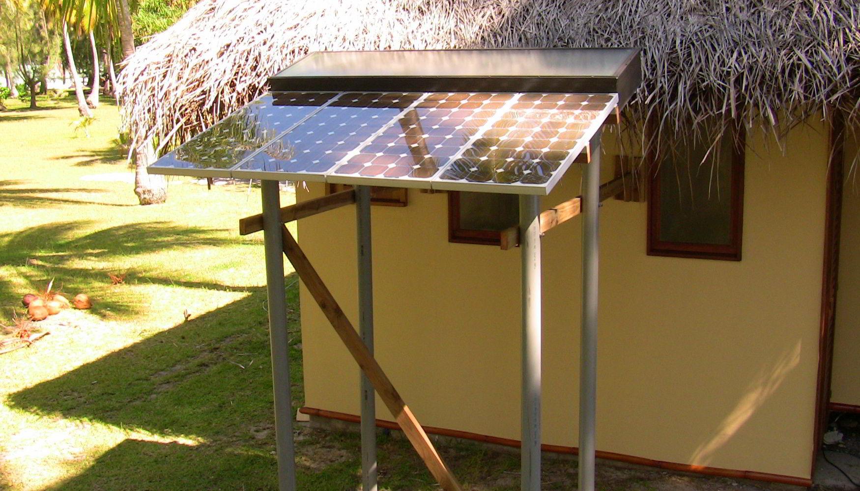 Luxury Island Resort Solar Panels