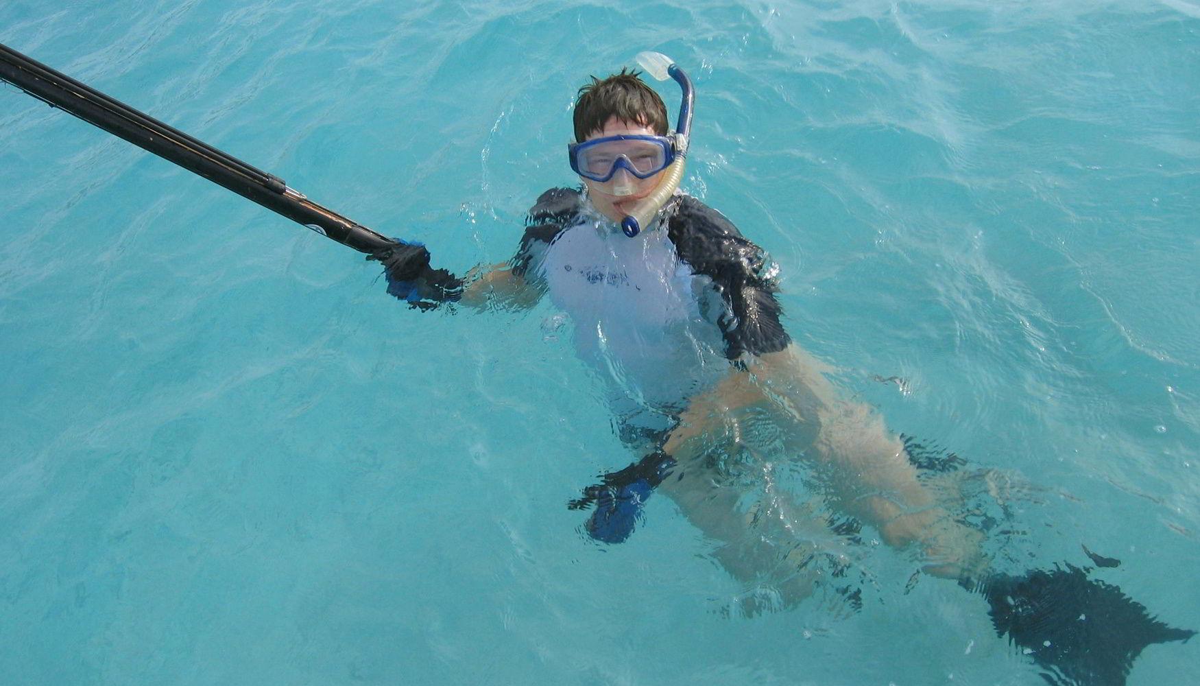 Spearfishing in French Polynesia