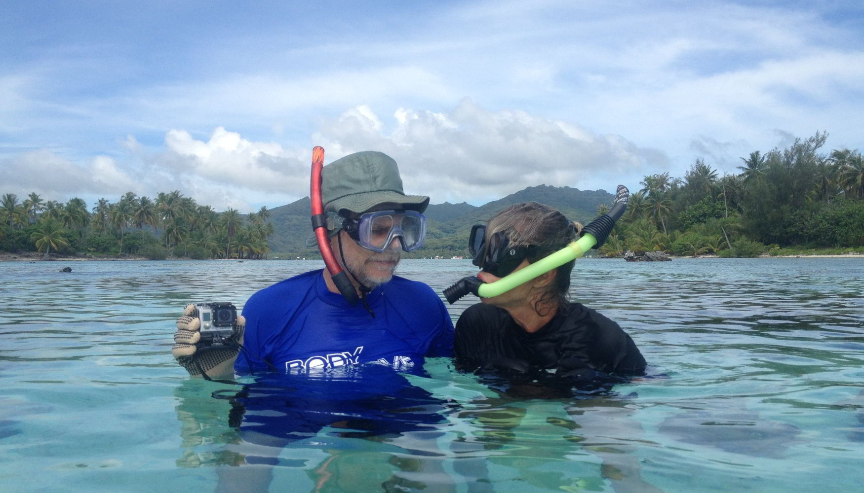 Snorkeling in Tahiti with GoPro camera