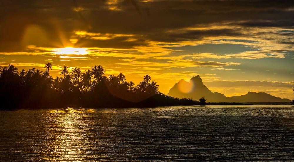 Sunset from Motu