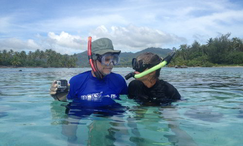 Snorkeling with GoPro around Motu Moie