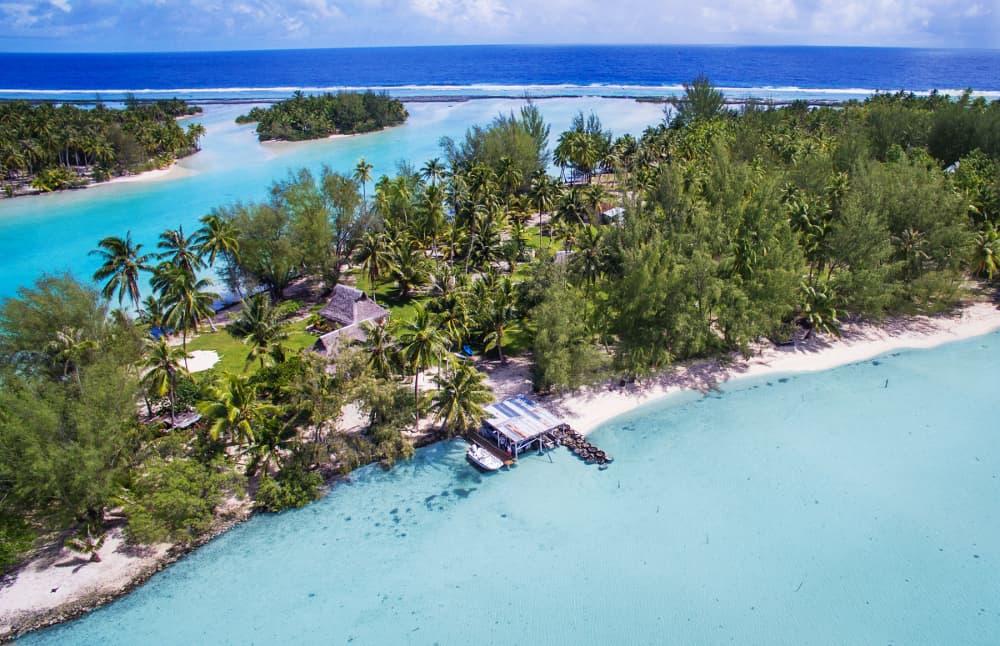 boat dock on private Tahiti island