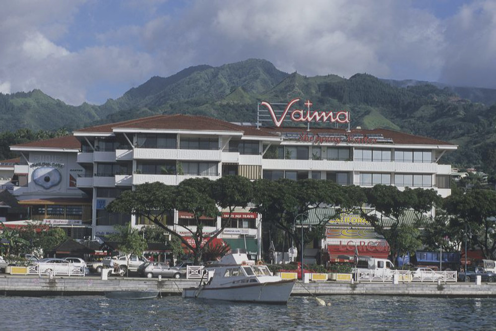 Vaima Center Mall Papeete shopping mall in Tahiti