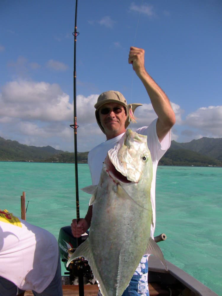 fishing for trevally in Tahiti, a great lunch or diner