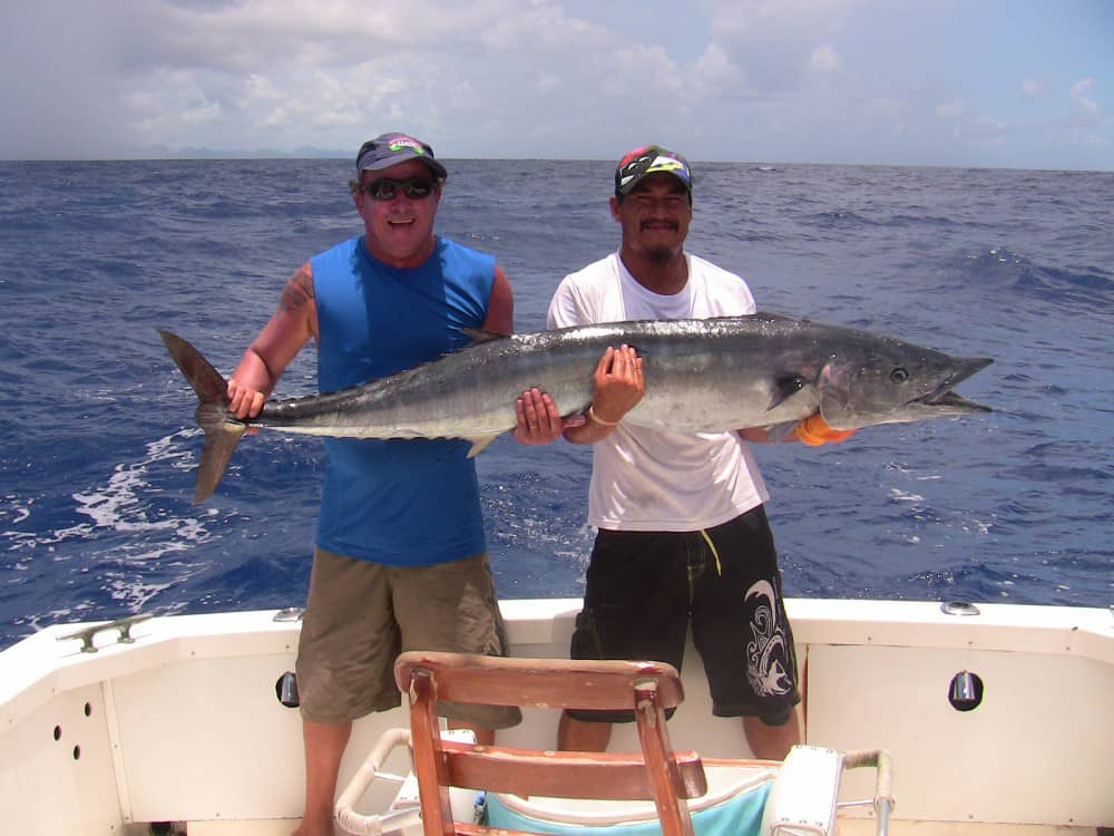 deep sea fishing for yahoo in Tahiti near Bora Bora